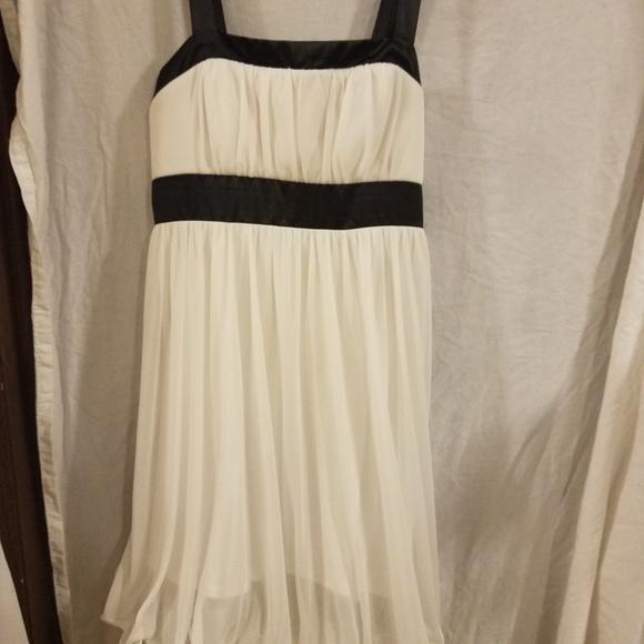 Black and White Semi Dresses